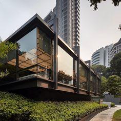 Singapore Exhibition, Scda Architects, Cement Design, Canopies, Glass House, Retail Design, Bauhaus, Pavilion, Architecture Design