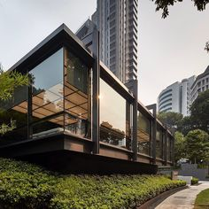 Singapore Exhibition, Scda Architects, Glass House, Bauhaus, Pavilion, Dining Room, Mansions, Landscape, Space