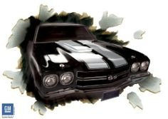 """1970 Chevelle SS-396 Through the Wall Peel and Stick by Wall art. $349.99. Type: Peel and StickDimensions: 49"""" x 68.25"""""""