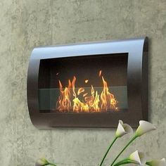 Features:  -Includes mounting hardware.  -Wall mount.  -Ventless, needs no chimney, no gas or electric hook up.  Style (Old): -Modern.  Primary Material: -Metal/Glass.  Fuel Type: -Bio-Ethanol.  Produ