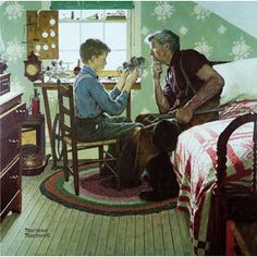 The Boy Who Put the World on Wheels-Norman Rockwell