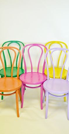 dream colorful chairs #colorstory