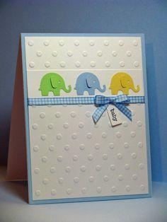Martha Stewart elephant punch - CAS card - bjl