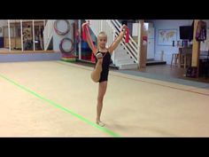 Rhythmic Gymnastics Training with Thera-bands - YouTube
