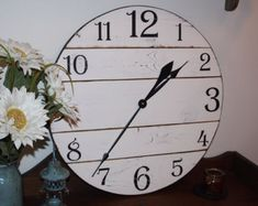 reclaimed wood wall clock large wall clock by