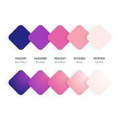 😍 Do you love these colors? Tag your designer friends⠀⠀⠀⠀ ➡️ Color Codes: 262687 // // // // ⠀⠀⠀ Rgb Palette, Flat Color Palette, Design Palette, Colour Pallette, Colour Schemes, Ui Color, Color Tag, Gradient Color, Web Design