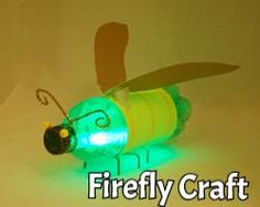 Glow in the dark Inscets with soda bottle & glow sticks!Once made, they can be saved each year and then a new glow stick can be added inside. The kids love flying these around the yard at night! Could be a fun camping craft Diy With Kids, Art For Kids, Summer Crafts, Fun Crafts, Glow Crafts, Paper Crafts, Projects For Kids, Diy Projects, Recycling Projects