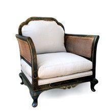 Chair original wood colour - light coloured fabric