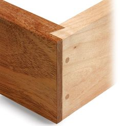 Rabbetted dovetail joint