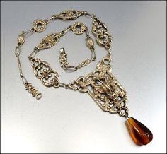Vintage renaissance revival 800 silver necklace coppini for Florentine bracelet tattoo