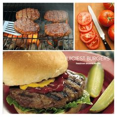 These are simple to make and turn out nice and juicy. Just add your favorite side and you've got an amazing meal! Great Recipes, Hamburger, Food To Make, Yummy Food, Meals, Nice, Simple, Amazing, Ethnic Recipes