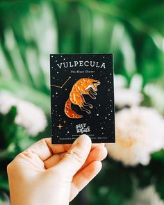 Vulpecula: The Leaping Fox Constellation Enamel Pin Jacket Pins, Pin Art, Cool Pins, Hard Enamel Pin, Cute Jewelry, Jewlery, Pin And Patches, Pin Badges, Dibujo