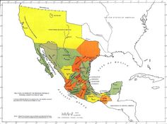 Mexico - Political Division of the Mexican Republic Federal Constitution of 1824