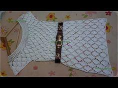 Vestido em croche inspiração para o reveillon parte 4 final - YouTube