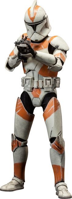 """Sideshow Collectibles Star Wars - Clone Trooper Deluxe: 212th Sixth Scale Figure ~ """"An experienced unit of clones serving under the leadership of Clone Commander Cody & Jedi General Obi-Wan Kenobi. Troopers from the 212th Attack Battalion are distinguished by the unique orange markings on their battle armor. The Clone Trooper Deluxe: 212th is crafted on a fully articulated body & features interchangeable Phase 1 & 2 helmets, along w an arsenal of essential munitions."""" ~ New: $153.39"""
