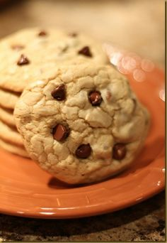 Chocolate Chip Cookies   http://sugarbeanbakers.blogspot.com