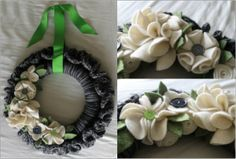 15 Spring Wreaths You Can Crochet: Mixed Media Crochet Wreath Free Pattern