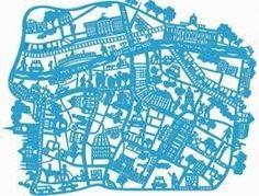 Laser cut map of Dublin