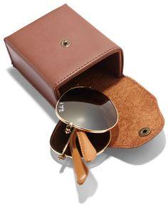 Twisted Classic  Ray-Ban Folding Aviator sunglasses, $247.50, my-wardrobe.com.