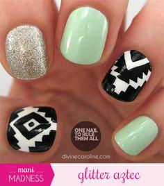 Gitter Aztec Nails!