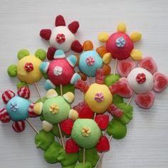 Brochette de bonbons fleur