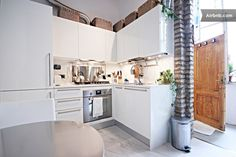 Chic Artist's Loft in Rome Center - Lofts for Rent in Rome, Lazio, Italy Italy Information, Lofts For Rent, Luxury, Chic, Places, Kitchen, Night, House, Environment