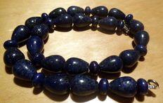 Collier de lazulite de lapis Afghan - 21e siècle