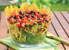 Layered Mexican Party Salad + Skinnygirl® Margarita = Perfection.