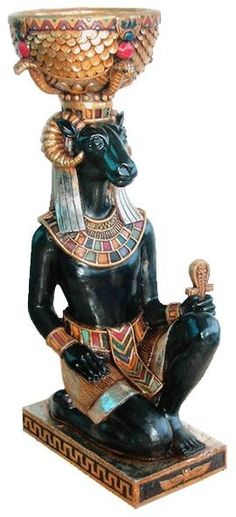 Features:  -Egyptian collection.  -Cast in quality designer resin.  -Hand painted.  -Suitable for a home bar, entertainment area or recreation room.  Product Type: -Statue.  Style: -Asian Inspired.  T