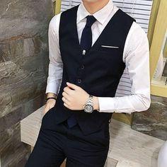 Zeeshant New Fashion Men Slim Suit Vests Single-Breasted Business Casual Suit Vest Party Wedding Waistcoat Men Dress Vest XXXXXL Beautiful Outfits, Cool Outfits, Fashion Outfits, Dress Vest, Men Dress, Business Casual Suit, Gilet Costume, Waistcoat Men, Mens Suit Vest