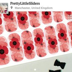 Poppy nail art decals by PRETTY LITTLE SLIDERS
