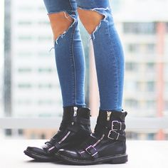 Burberry #boots...I'm in love! From http://thenativefox.blogspot.com/2014/01/burberry-shkickers.html