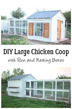 DIY Large Chicken Coop Plans - Coop has run and nesting boxes