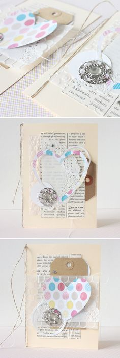 """shabby chic """"light"""" cards with supplies by #Sizzix and #StampinUp - by Janna Werner"""