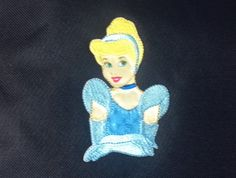 Large Pin Trading Book Bag Disney Princess Cinderella Blue Gown Embroidery