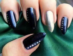 "Improbable Nails: ""Deep blue"" nails"