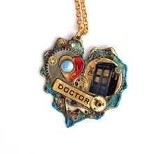 "Doctor Who Necklace ""At the Heart of Time"" by TimeMachineJewelry"