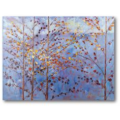 Courtside Market Sky Trees Gallery Wrapped Canvas