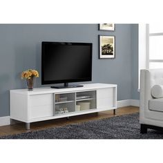 White 70 Inch Tv Console Monarch Specialties Tv Cabinets Tv Stands & Cabinets Home Enterta