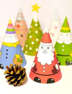holiday paper cone printables