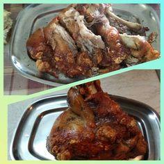 Κότσι 🐷🍗 χοιρινό στο φούρνο σε λαδόκολλα Αντώνης Chicken Wings, Pork, Food And Drink, Meat, Cooking, Recipes, Kale Stir Fry, Kitchen