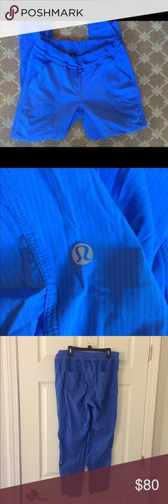"""Lululemon Street to Studio Pant Rare blue Street to Studio pant in excellent condition! Made with the lightweight swift material. Size 10 with a 26""""inseam. The smallest pill on back right of pants as shown in last pic. lululemon athletica Pants Straight Leg"""