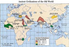 ancient civilization map  Color n chart as we go thru ancient civs.