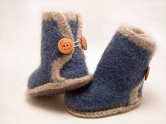Felted Baby Ugg Booties by BayBuggs on Etsy, $30.00