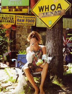 Couture Cowgirl Editorials - Elle Italia August 2010 Stars Erin Wasson in a Travel Adventure (GALLERY)