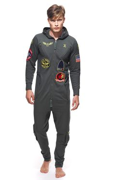 These onesies are incredible lol OnePiece Aviator Onesie Jungle Green