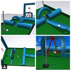Incredible mini-golf course designed in Morphi by @ashley_pavlovic of @chainbridgeforge3dprinter. We want one!#