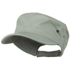 Adjustable Trendy Army Style Cap - Grey