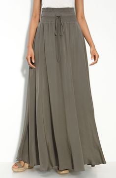 Leifsdottir Washed Silk Maxi Skirt