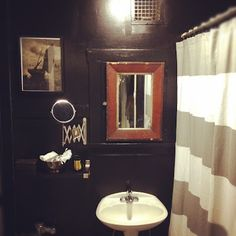 BLACK BATHROOM   Brian Paquette